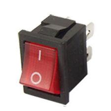 3pcs Lumiere rouge 4 broches DPST ON-OFF Bateau interrupteur a bascule WT