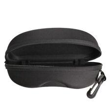 Zipper Eye Glasses Sunglasses Hard Case Box Portable Protector Black