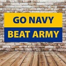 Go Navy Beat Army Advertising Vinyl Banner Flag Sign Many Sizes
