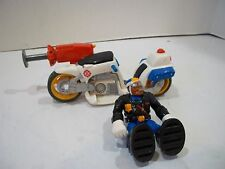 FISHER PRICE RESCUE HEROES JAKE JUSTICE & MOTORCYCLE