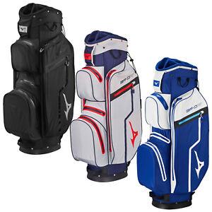 Mizuno Mens BR-DRI Waterproof Cart Trolley Golf Bag Full Length Dividers 14 Way