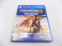 Mint Disc Playstation 4 Ps4 Uncharted 3 Drake's Fortune Remastered Free Postage