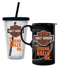 Harley Davidson Bar & Shield Hot & Cold Drinkware Mug Set Birthday Gift