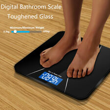 NEW Electronic Bathroom Scale Toughened Glass Body Measures Weights 180kg UK