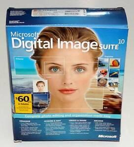 Microsoft Digital Image Suite 10 Factory-Sealed Retail Box NEW Photo Editing