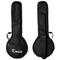 Kmise Banjo Gig Bag Ukulele Uke Ukelele Bag Concert 23 Inch Size Black