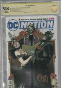 DC NATION # 0 CBCS 9.8 SIGNED BY CLAY MANN