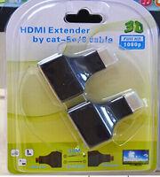 Hdmi Over 30M Rj45 Cat5E Cat6 Utp LAN Ethernet Extender Hd 1080P 3D HdTV HW