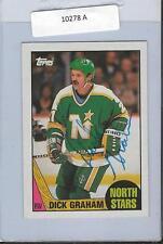 Dirk Graham 1987 Topps Autograph #184 North Stars