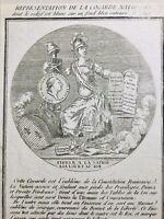 Cocarde Nationale 1789 Droits de l'homme Constitution Marianne Révolution France
