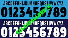 kit nome + numero x maglia lazio 97-98 bianco o blu scuro flock umbro