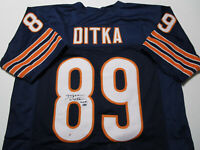 MIKE DITKA / NFL HALL OF FAME / AUTOGRAPHED CHICAGO BEARS CUSTOM JERSEY / COA