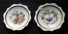"Vintg ROYAL ALBERT Bone China England FRUITS Pattern 4 1/2"" 2 Nut Trinket Dishes"