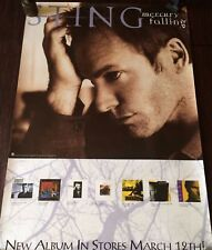 """Sting """"Mercury Falling-New Album In Stores March14"""" U.S. Promo Poster-The Police"""
