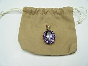 Collectible Vintage 14 Karat Yellow Gold Amethyst Pendant
