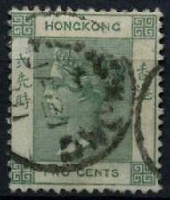 Hong Kong 1900-1 SG#56, 2 C Opaco Verde QV USATO #D53529