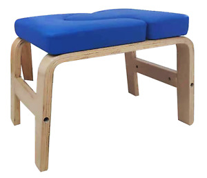 Yoga Chair Headstand Upending Inversion Bench Pilate Blue