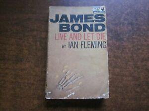 LIVE AND LET DIE by Ian Fleming JAMES BOND 007 Vintage 1966 Pan PB Book