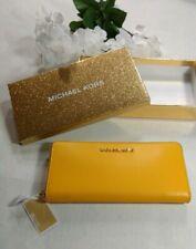 Micheal Kors Yellow Continental Wallet