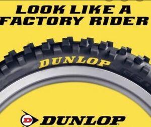 Dunlop Tyre Stickers Motocross