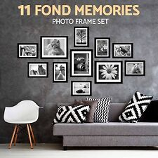 11 Pcs Wall Hanging Photo Frame Set Black Picture Display Modern Art Home Decor