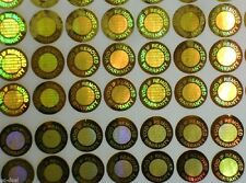 10mm Gold Warranty Void If Removed Hologram Security Sticker Tamper Proof 2000ps