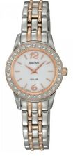 Seiko Ladies Solar Two Tone Watch SUP130P9-NEW