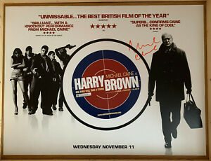 Harry Brown Original Movie Quad Poster Signed by Michael Caine