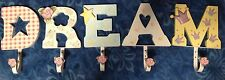 HOME INTERIORS KIDS HANGING LETTER HOOKS SPELL DREAM