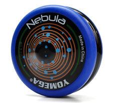 Yomega Nebula Blue and Black Yo Yo  PLUS 3 FREE NEON STRINGS YEL/ORG/GREEN