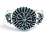 Native American Zuni Handmade Sleeping Beauty Turquoise Cuff Bracelet