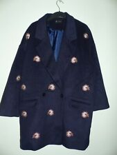 R Studio LA Redoute women double breasted Coat Jacket with embroidery size 20