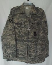 US AIR FORCE ABU WOMANS UTILITY COAT JACKET TIGER STRIPE 10L SECURITY FORCES
