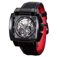 DETOMASO Metauro Mens Automatic Watch Skeleton Stainless Steel Black New