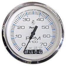 Johnson Evinrude Faria Chesapeake White SS Tachometer with SystemCheck 33850 MD