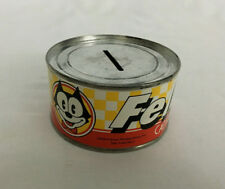 Vintage 1983 Collectible Felix The Cat Novelty Cat Food Can Coin Bank