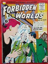 FORBIDDEN WORLDS 1 STRATO SILVER AGE 1959 Stories of Strange Adventure vf+