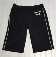 FILA SPORT Women's XS Activewear Shorts Black/White Poly Spandex