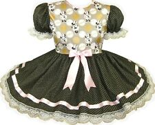 READY 2 WEAR | PINK Gold Minnie Mouse Adult Baby Sissy Little Girl Dress LEANNE