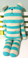 CRAFTHOLIC BLUE AND WHITE STRIPEY BEAR CHARACTER TOY 56CM!