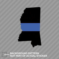 Mississippi State Shaped The Thin Blue Line Sticker Decal Vinyl police support