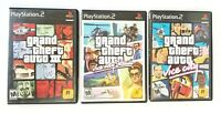 PlayStation 2 Grand Theft Auto 3 / Vice City Stories / Vice City Lot of 3 PS2