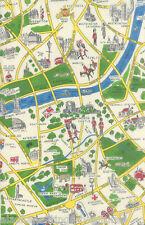 MODA Fabric ~ NEW PASSPORT ~ Moda Classic (33012 11) London Map Multi - 1/2 yd