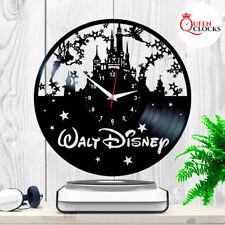 Disney World Theme Castle Logo Vinyl Record Wall Clock Princess Gifts Art Decor