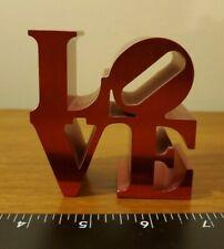 "Robert Indiana LOVE Red Aluminum Metal Sculpture 3"" x 3"" Free shipping"