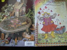 Over The Rainbow Painting Book- Hilton, Cartoon Type Bears/Bunnies/Pigs/Cottage