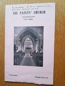 ALL SAINTS CHURCH  Easington East Yorks - A short History of Church & Parish