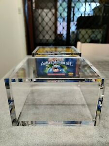 Pokemon Magnetic Acrylic Booster Box Protector Case WOTC Sun and moon BASE SET.