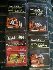 24 Allen Archery Arrow Nocks & Inserts Carbon Arrows Orange Yellow