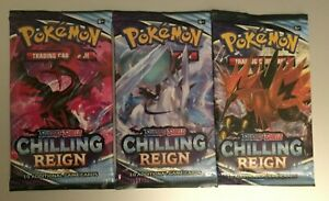 3-Pokemon Chilling Reign V/HOLO/FULL ART/SECRET RARE HOT PACKS Snorlax?Moltres!?